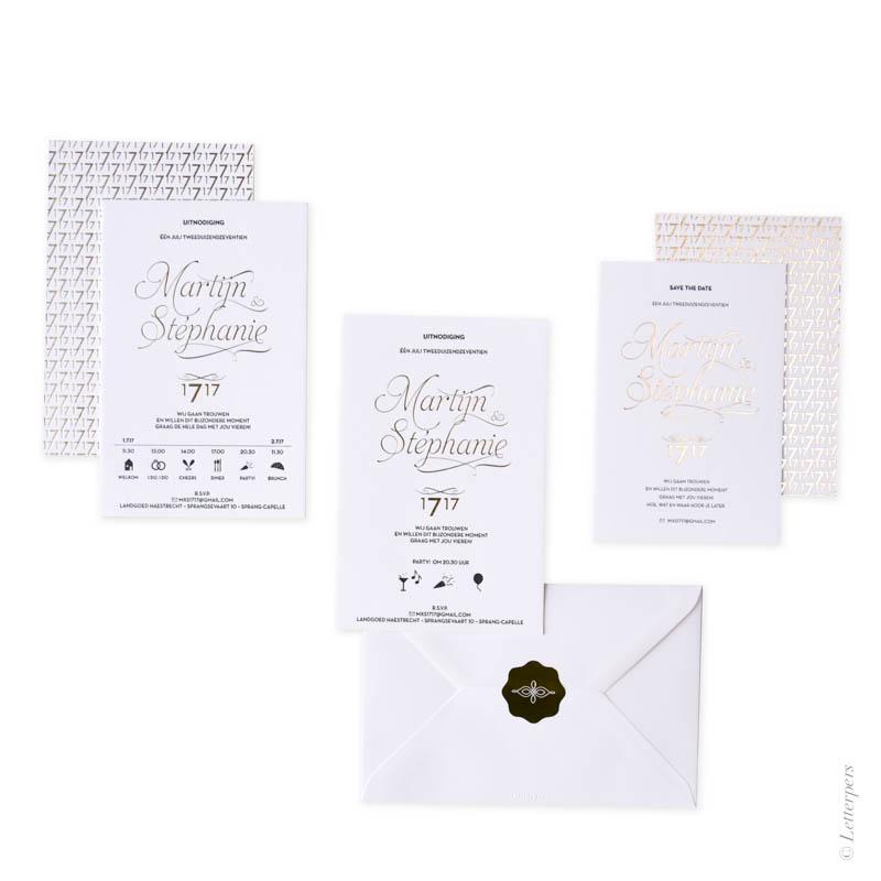 Letterpers, letterpress, folie, goud