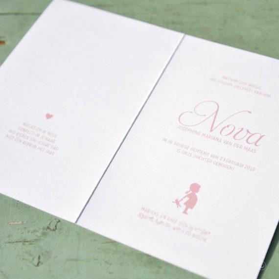 Folie in combinactie met print - Letterpers