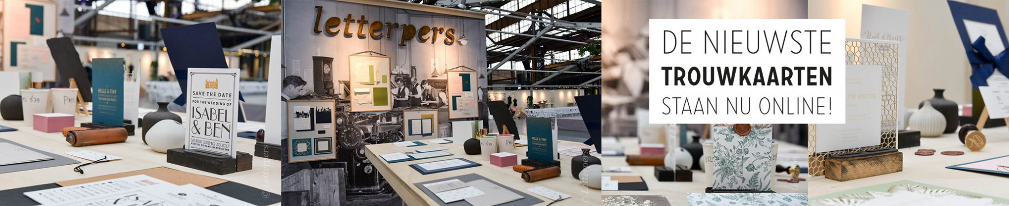 Letterpers stand op Love and Marriage beurs in de werkspoorkathedraal Utrecht