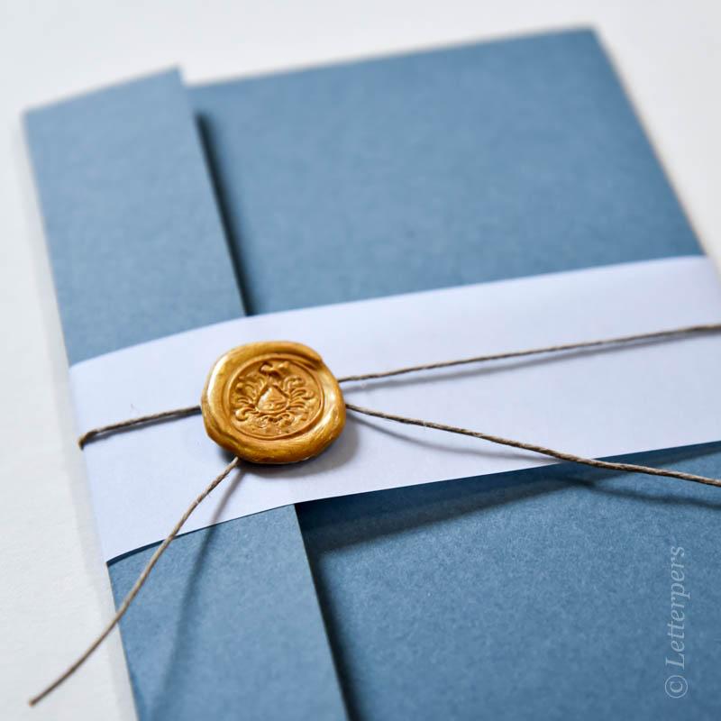 Trouwmap met waxzegel - Letterpers