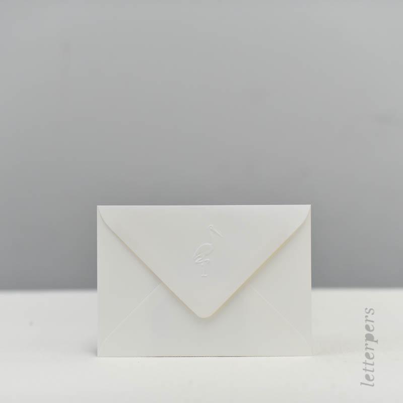 Ooievaar op de enveloppen