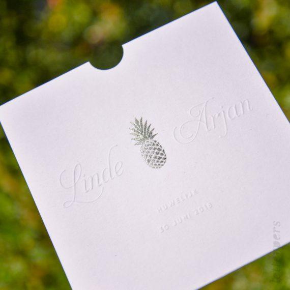 trouwmap met folie letterpers