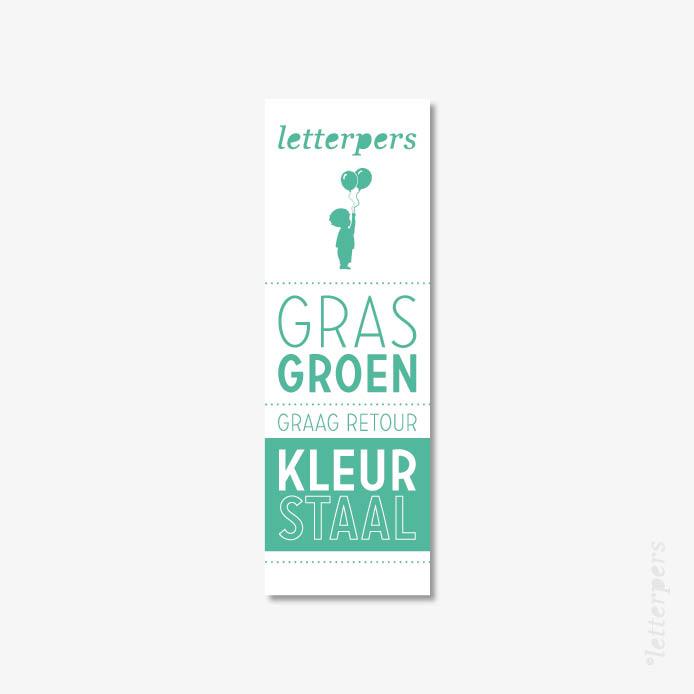 Letterpers kleur gras groen