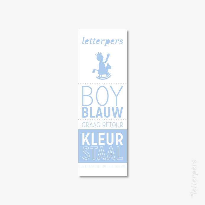 Letterpers kleur boy blauw