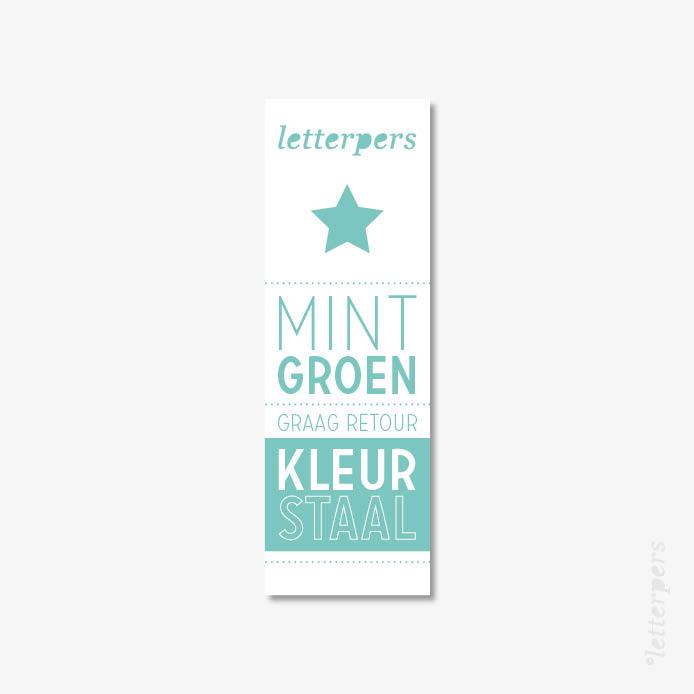 Letterpers kleur mint groen