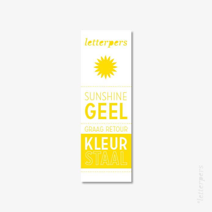 Letterpers kleur sunshine geel