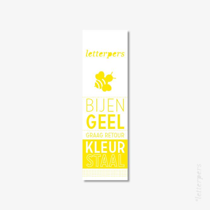 Letterpers kleur bijen geel