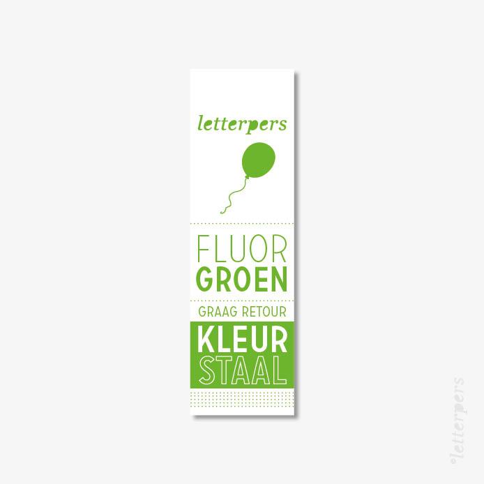 Letterpers kleur fluor groen