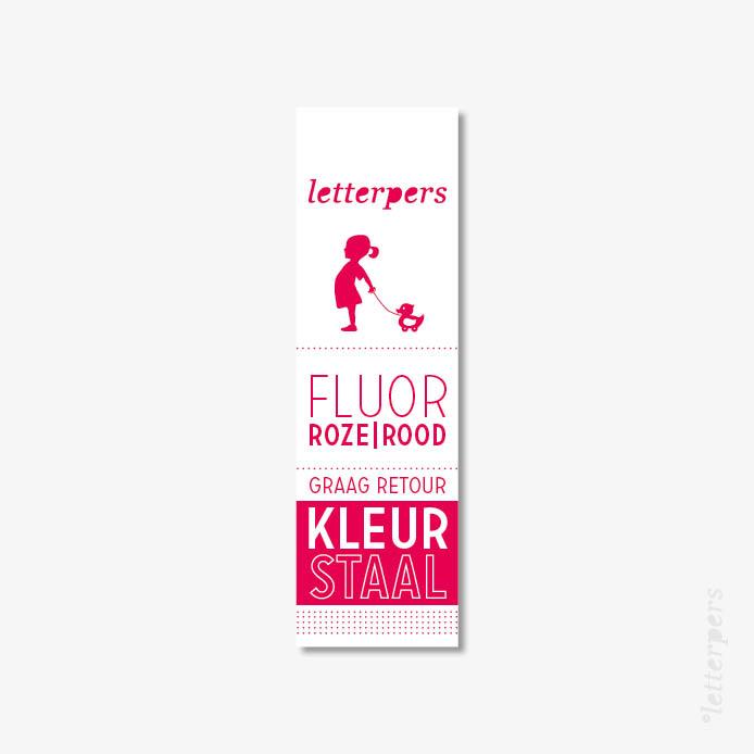 Letterpers kleur fluor roze / rood