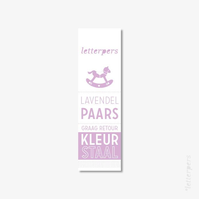 Letterpers kleur lavendel paars