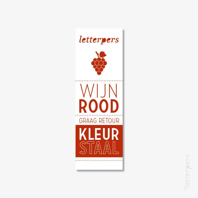 Letterpers kleur wijn rood