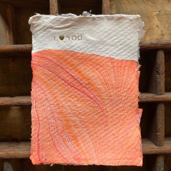 Marmerlook met folie op handgeschept papier - a7