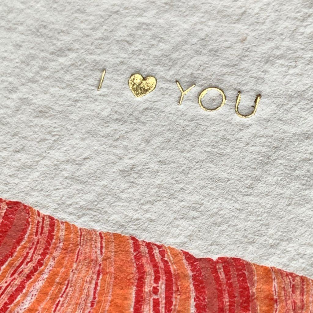 Marmerlook met folie op handgeschept papier - a6