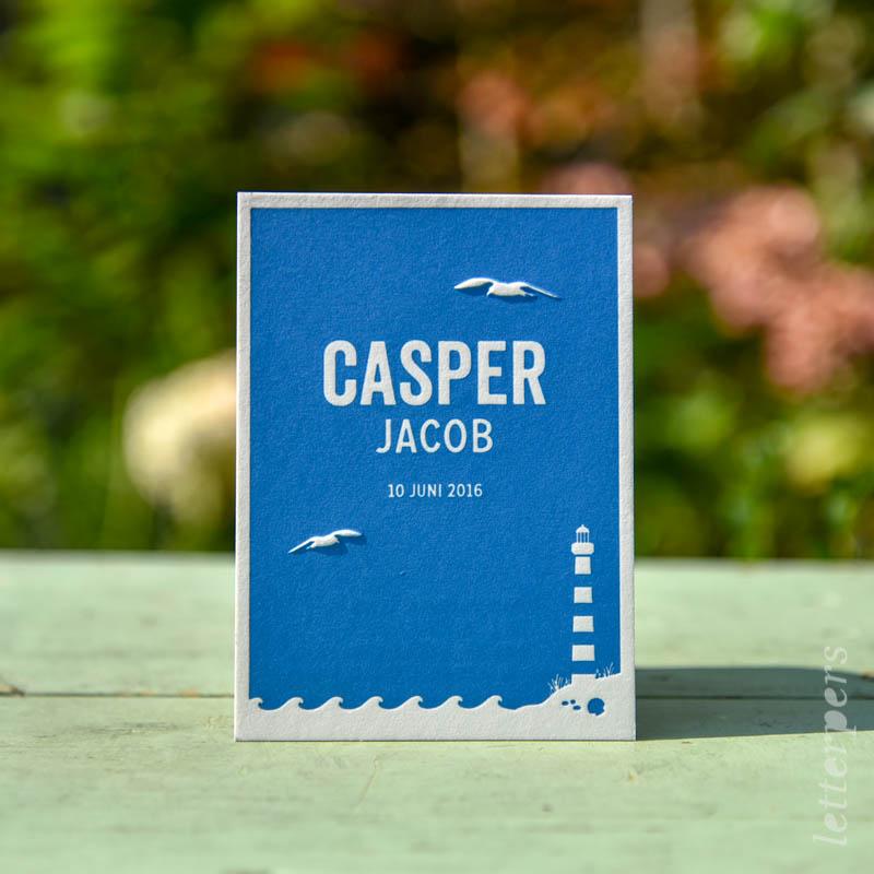 Casper blauw zee en vuurtoren