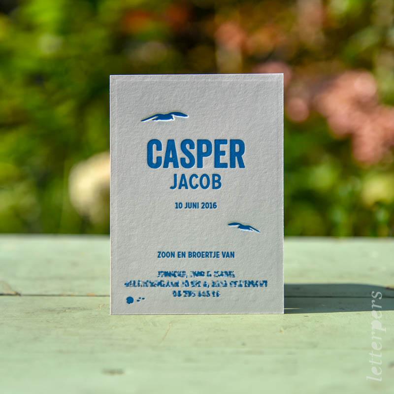 Casper blauw zee en vuurtoren achterkant