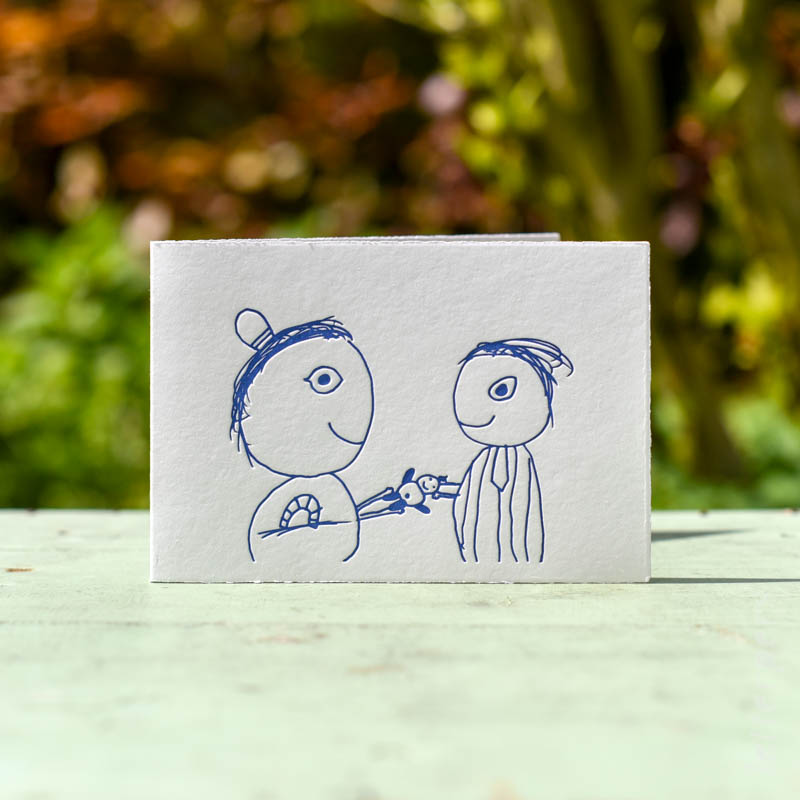 tekening gemaakt door jullie kinderen voor hun broertje of zusje