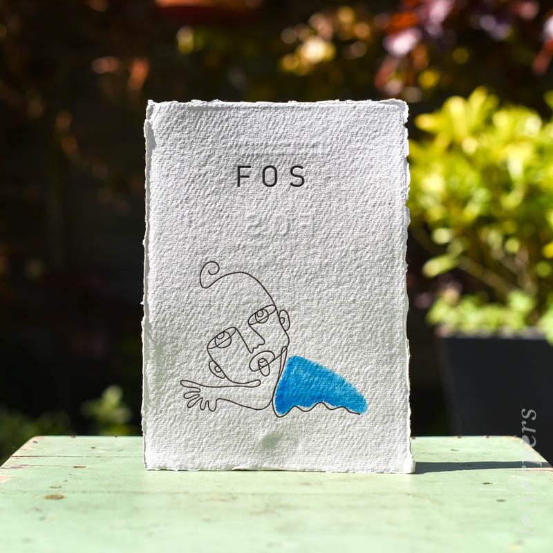 geboortekaartje fos letterpers letterpress baby uit een lijn