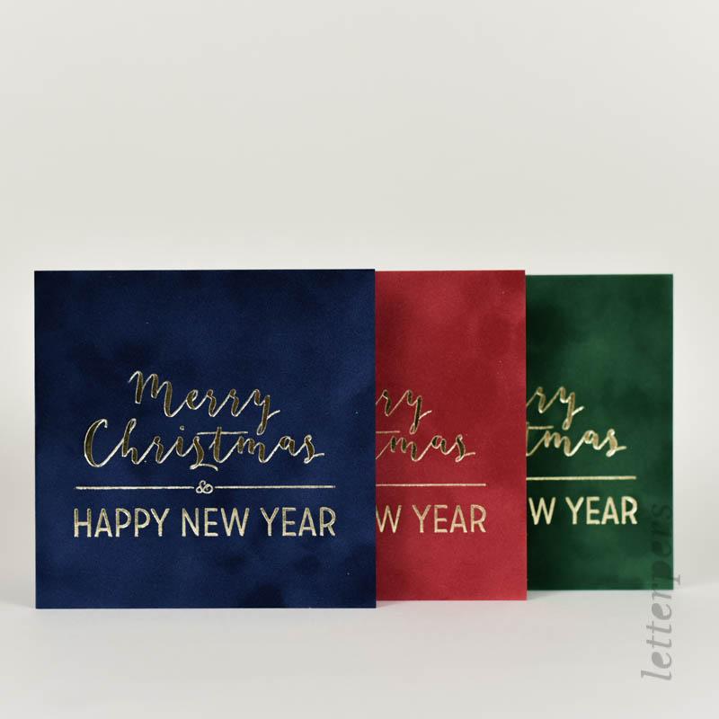 merry christmas letterpress