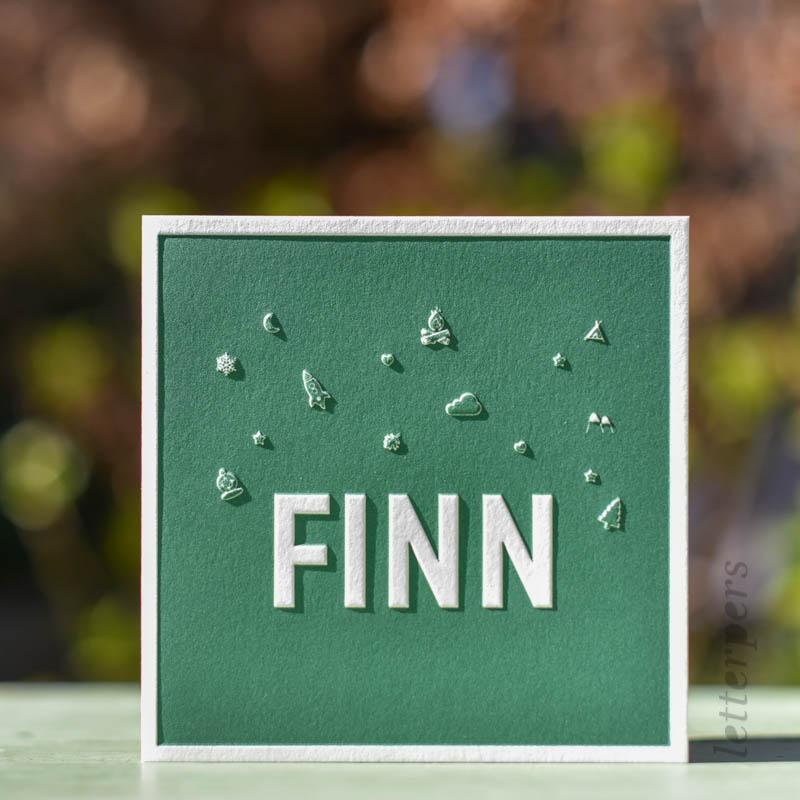 groen geboortekaartje finn