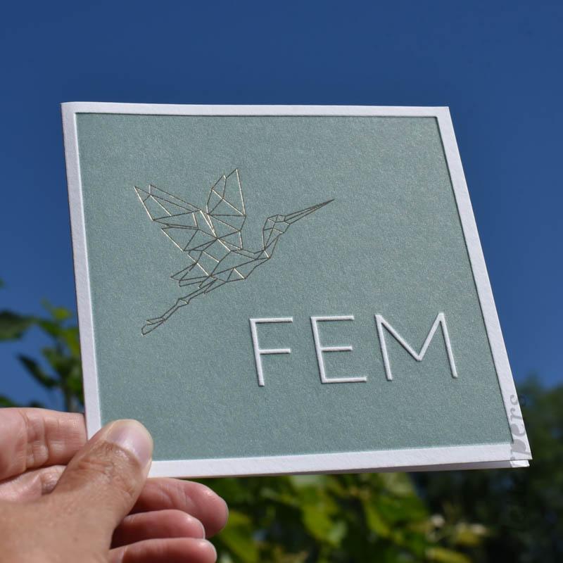 origami ooievaar kaartje fem