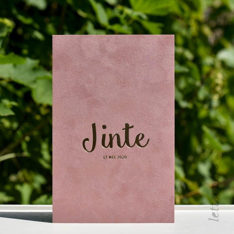 oud roze papier velours