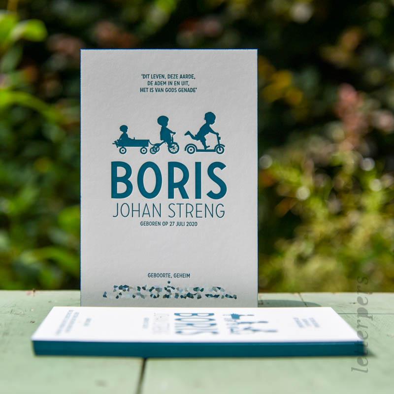 Geboortekaartje voor zoontje Boris