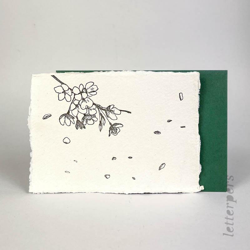 handgeschept kaartje met bloesem