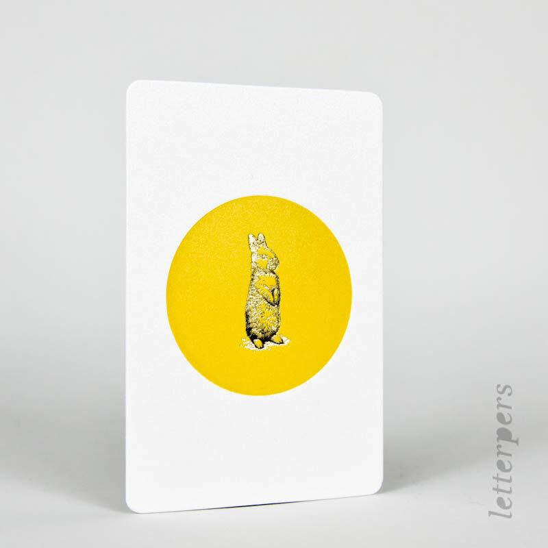 gouden konijntjes kaartje