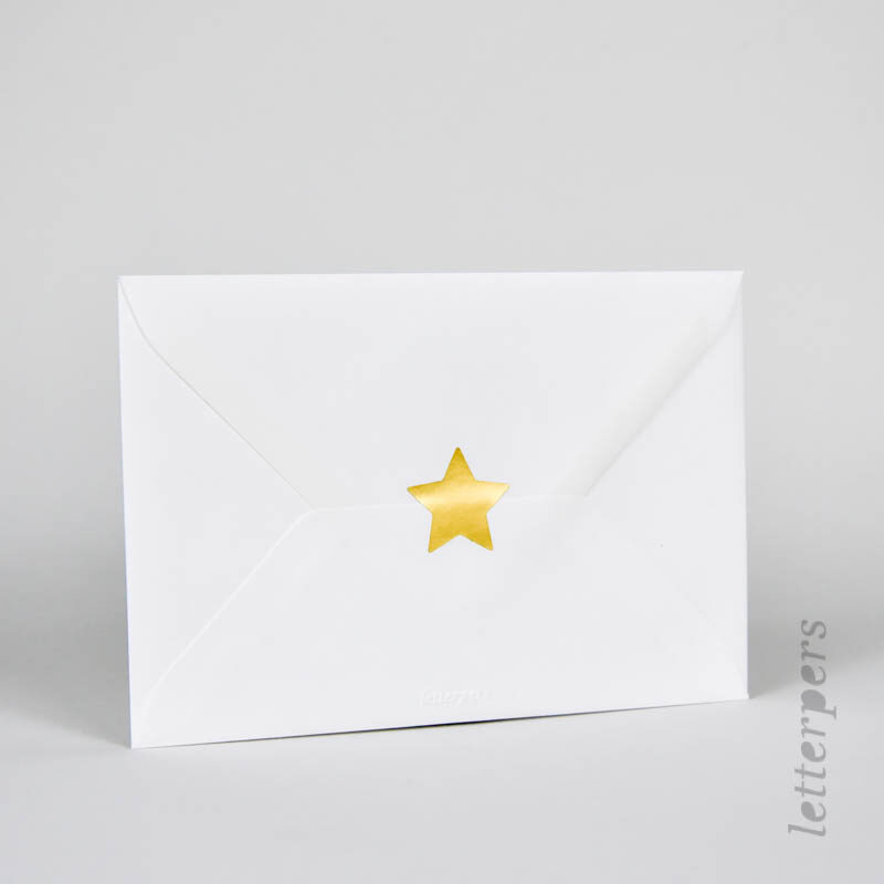 gouden ster sticker