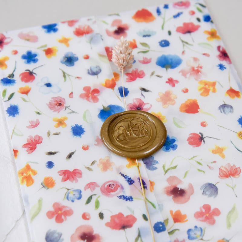kleurige bloemen omslag