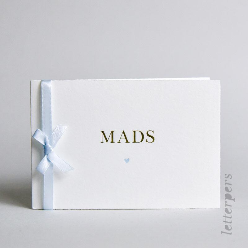 kaartje van Lydia met letterpers